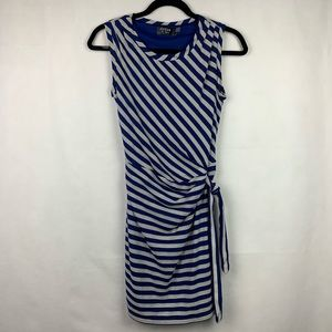Guess Striped Sleeveless Dress Blue Gray Size 2
